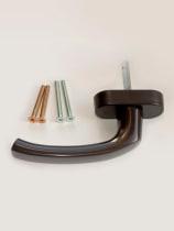Ручка оконная НOPPE Flensburg Secustik, штифт VarioFit 32-42мм, коричневая