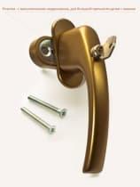 Ручка оконная с винтами BLAUGELB штифт 43мм (бронза) с ключом