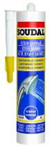 Герметик силиконовый Soudal санитарный 280 мл серый