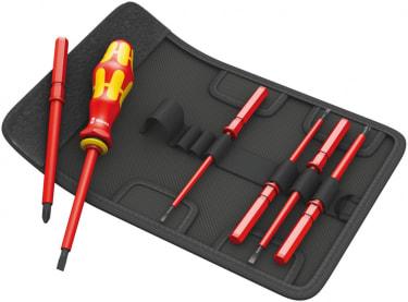 Набор cменных отвёрток с держателем WERA Kraftform Kompakt VDE 7 Universal