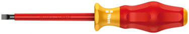 Изолированная шлицевая отвертка WERA 1160 i VDE, 0.5 x 3.0 x 100 мм
