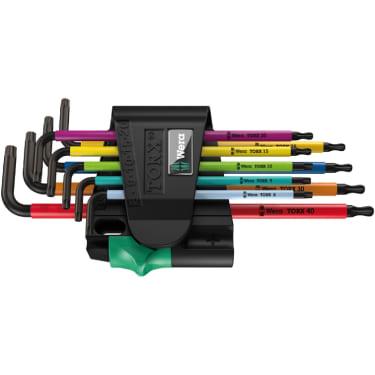 967 SPKL/9 TORX® BO Multicolour Набор Г-образных ключей, BlackLaser, 9 предметов