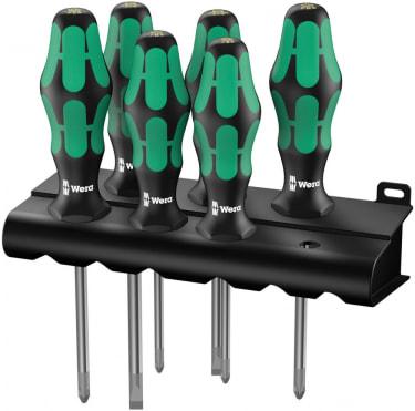 Набор отверток WERA Kraftform Plus Lasertip + подставка, 6 предметов