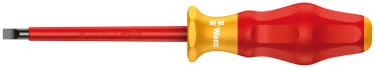 Изолированная шлицевая отвертка WERA 1160 i VDE, 0.6 x 3.5 x 100 мм