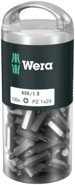855/1 Z DIY 100 Насадки,  PZ 1 x 25 mm (100 Bits pro Box)