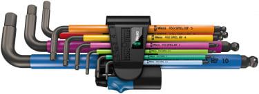 950 SPKL/9 SM HF Multicolour Набор Г-образных ключей, метрических, BlackLaser, с фиксирующей функцией, 9 предметов