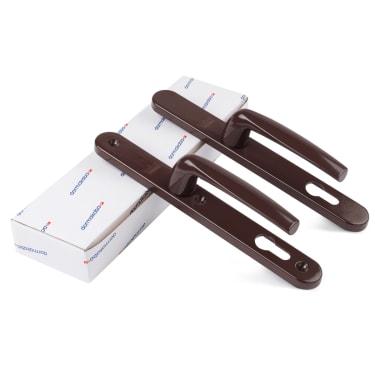 Гарнитур нажимной Dorma BREMEN, 92/8/30мм, коричневый RAL8017 - photo 2