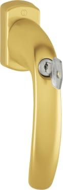 Ручка оконная c замком HOPPE New York SecuDuplex, штифт 37мм золото