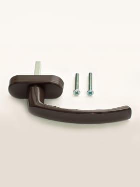 Ручка оконная металлическая с винтами STROXX RAL 8019 коричневая, штифт 37мм - photo 5