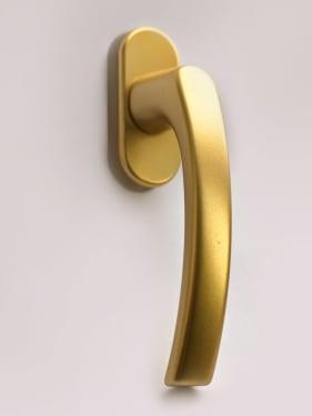 Ручка оконная металлическая BLAUGELB F3 (золото) штифт 37мм