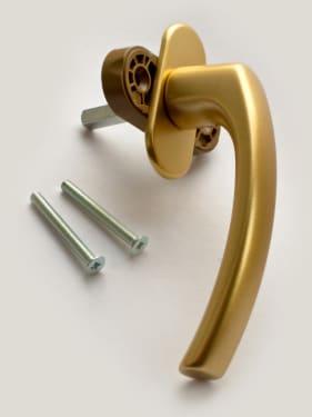 Ручка оконная металлическая BLAUGELB F3 (золото) штифт 37мм - photo 2