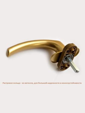 Ручка оконная металлическая BLAUGELB F3 (золото) штифт 37мм - photo 3