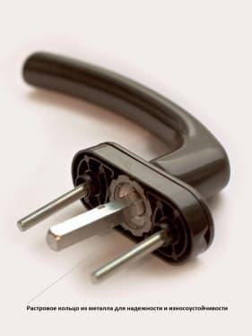 Ручка оконная металлическая BLAUGELB коричневая штифт 37мм - photo 2