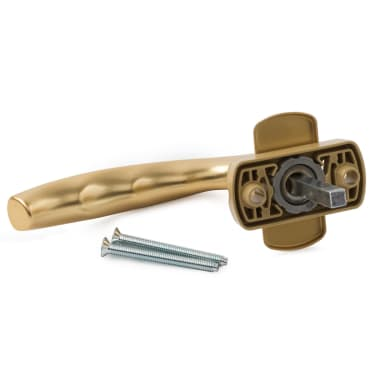Ручка оконная с винтами HOPPE New York F3 (золото) штифт 37мм - photo 2