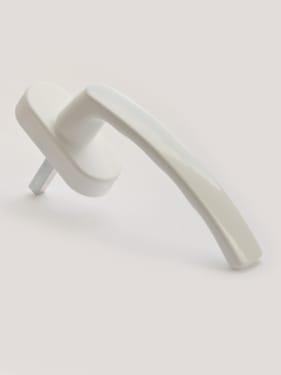 Ручка оконная металлическая с винтами STROXX RAL 9016 белая, штифт 35мм - photo 5