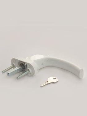 Ручка оконная с винтами BLAUGELB штифт 43мм (белая) с ключом - photo 2