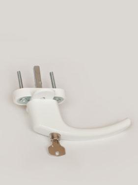 Ручка оконная с винтами BLAUGELB штифт 43мм (белая) с ключом - photo 5