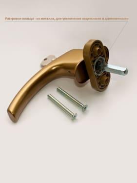 Ручка оконная с винтами BLAUGELB штифт 43мм (бронза) с ключом - photo 3
