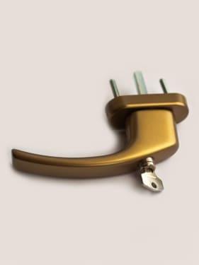 Ручка оконная с винтами BLAUGELB штифт 43мм (бронза) с ключом - photo 5