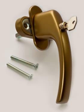 Ручка оконная с винтами BLAUGELB штифт 43мм (бронза) с ключом - photo 11