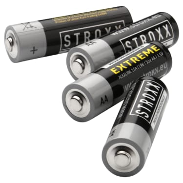 Алкалиновые (щелочные) батарейки AA / LR6 / 15A, 4 шт. в блистере, STROXX - photo 2