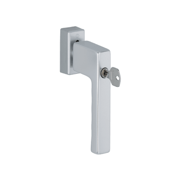 Ручка оконная с ключом Hoppe TOULON SecuForte®, штифт 32-42 мм., серебристая - photo 2