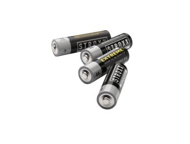 Алкалиновые (щелочные) батарейки AA / LR6 / 15A, 4 шт. в блистере, STROXX