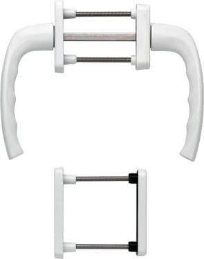 Балконный гарнитур с розеткой NEW YORK, белый F9016