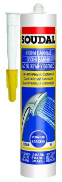 Герметик силиконовый санитарный Soudal 280 мл. бесцветный