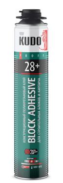 Клей полиуретановый профессиональный для строительных блоков и кирпича KUDO PROFF 28+