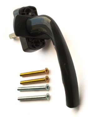 Ручка оконная Hoppe New York Secustik,серый антрацит, штифт VarioFit 32-42мм