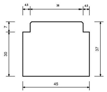 Тёплый подставочный профиль BLAUGELB 30/37X45X1200 мм. (Rehau)