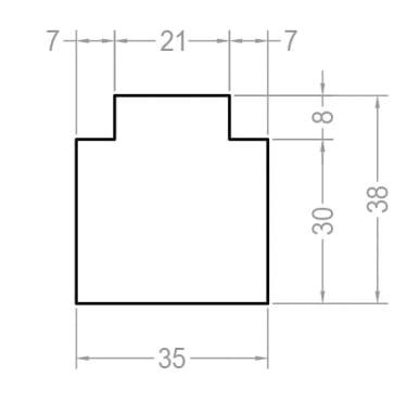 Тёплый подставочный профиль BLAUGELB 30/37X35X1200 мм (KBE58) - photo 2