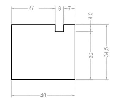 Тёплый подставочный профиль BLAUGELB 30/35х40х1200 мм (Alutech W62) - photo 2