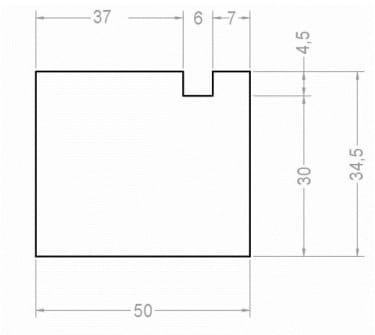 Тёплый подставочный профиль BLAUGELB 30/35X50X1200 мм (Alutech W72)