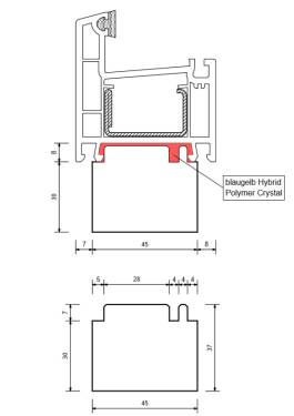 Тёплый подставочный профиль Blaugelb 30X45X1175 мм. (Rehau) - photo 3