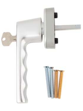 Ручка оконная с ключом Hoppe HAMBURG, 32-42 мм SecuForte®,серебристая - photo 4