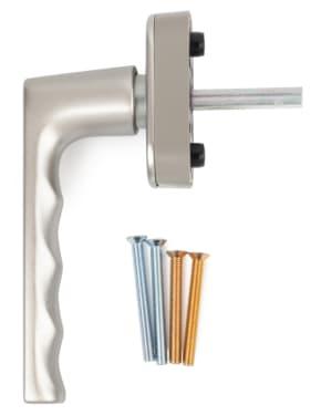 Ручка оконная Hoppe HAMBURG SecuForte®, штифт VarioFit 32-42 мм,матовая сталь - photo 4