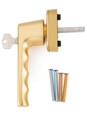 Ручка оконная с ключом Hoppe HAMBURG, 32-42 мм SecuForte®,золото - photo 4