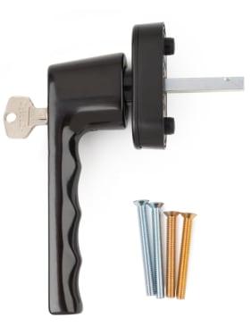Ручка оконная с ключом Hoppe HAMBURG, 32-42 мм SecuForte®, коричневая - photo 4