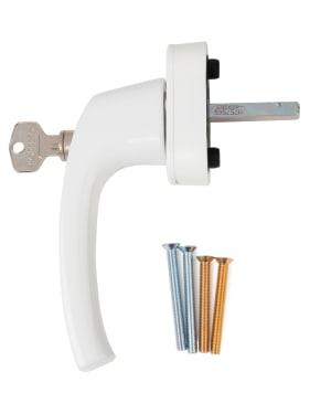 Ручка оконная с ключом и кнопкой Hoppe FLENSBURG Secustik,штифт 32-42 мм. белая - photo 4
