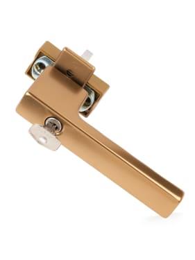 Ручка оконная с ключом Hoppe TOULON SecuForte®, штифт 32-42 мм., бронза