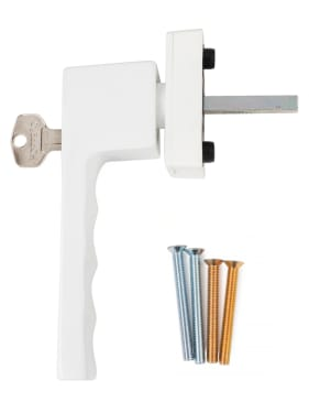 Ручка оконная с ключом Hoppe TOULON SecuForte®, штифт 32-42 мм., белая - photo 4