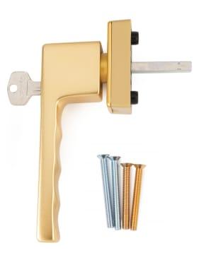 Ручка оконная с ключом Hoppe TOULON SecuForte®, штифт 32-42 мм, золото - photo 4