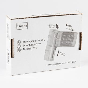 Петля дверная STROXX ST-V белая, нахлест 15-19 мм. - photo 3