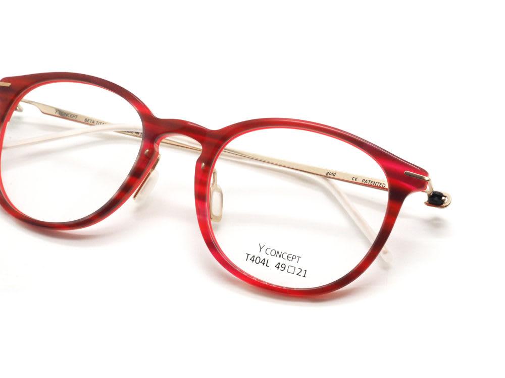 Y CONCEPT, T404L col.C-027 Red ink 眼鏡工房久保田