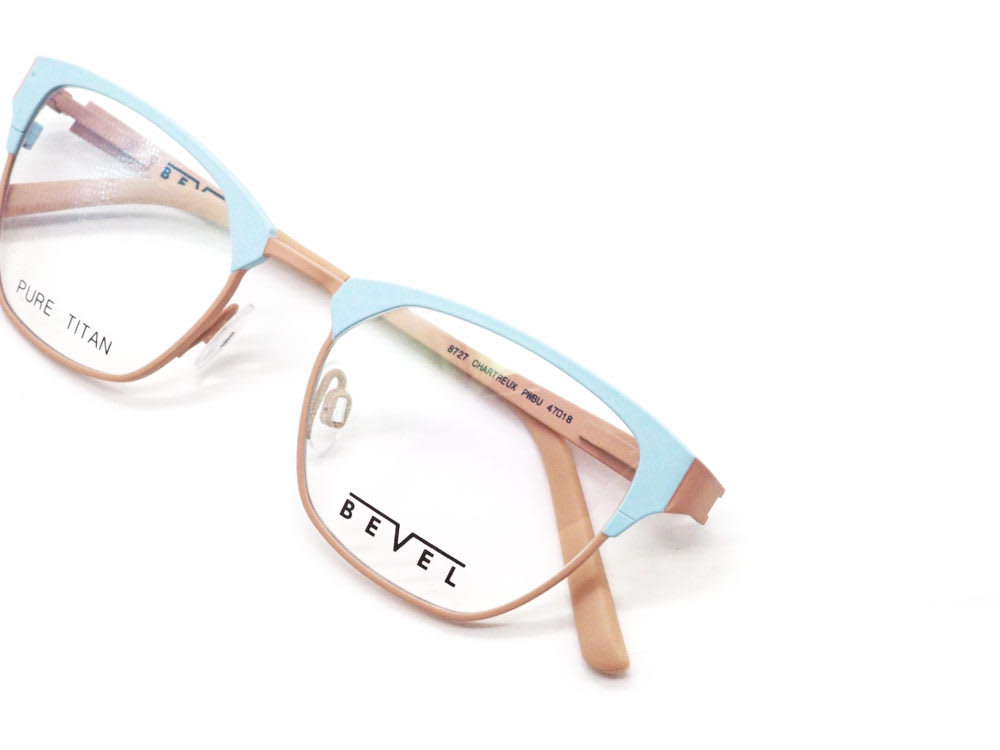 BEVEL, 8727 CHARTREUX col. POWDER BLUE/SANDSTONE 眼鏡工房久保田