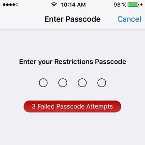 Ios Restrictions Passcode Cracker 1024kb It Support