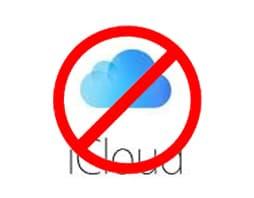 No iCloud