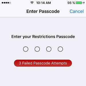 iOS Restrictions Passcode Cracker - 1024kb IT Support